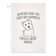 Wer Sagte Du Can'T Kaufen Happiness Forgot Über Welpen Geschirrtuch Tuch - Hund