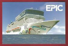 ms NORWEGIAN EPIC..cruise ship..NCL (1) post card w/ships & Capt.stamp
