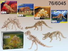 Dinosaur Skeleton Puzzle - Tyrannosaurus etc - Childrens Wooden 3D Puzzle