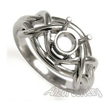 950 Solid Platinum Ring Setting Mounting For Round or Oval Ring size 4 to 9.5