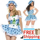 New Women's BLUEBERRY DELIGHT Halloween Adult Sexy Costume Cosplay Maid