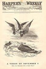 Political Cartoon, A Vision Of November 8th, Election Day, 1904 Antique Print