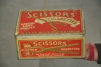 Vintage Scissors Army Special Cigarettes Ad Litho Tin Box, London
