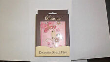 Pink Wall Switch Plate With  Butterfly & Floral Design-NEW
