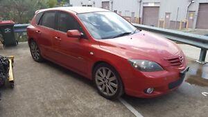 2004 Mazda 3 SP23 Hatchback Wrecking - Red Manual 2.3 L3 BK 04 05 06