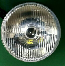 """2 x CLASSIC 7"""" PROJECTOR HEADLAMPS- GLASS & STEEL- FALCON GT MONARO GTS CHARGER"""
