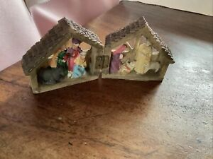 Miniature Fold-Out Nativity Scene Christmas