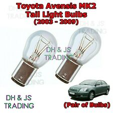 Toyota Avensis Tail Light Bulbs Pair of Rear Tail Light Bulb Lights MK2 (03-09)