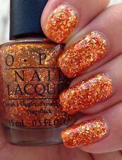 OPI Coca Cola ORANGE YOU FANTASTIC! Orange Glitter Nail Polish Lacquer .5oz C20