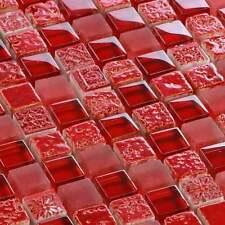 mosaïque céramique carrelage CROSSOVER rouge 15 x 15 x 8 mm