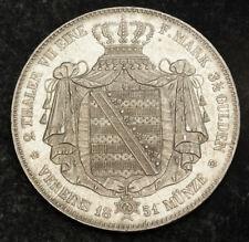 1851, Saxony, Frederick Augustus II. Silver 2 Thaler (3½ Gulden) Coin. 37gm!