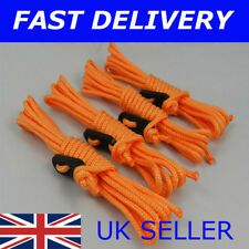 X4 ORANGE Guy Line Ropes 2.4 M Tent Camping Gazebo Rope Paracord Guyline
