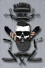 Barber Shop Letrero metal Decor Decoración De Pared Placas 1082
