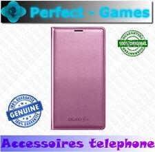 Etui housse estuche coque case flip wallet original Samsung galaxy S5 rose pink