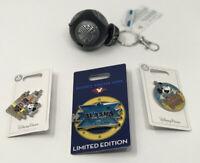 Disney PIN Lot  3 PINs and 1 BB-9E Keychain Mickey Mouse & Disney Alaska Crusie