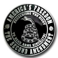 "America's Freedom the Second Amendment 12"" Round Metal Sign"