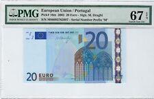 EU / Portugal 2002 20 Euro P16m PMG 67 EPQ