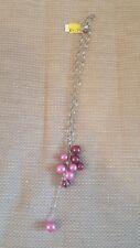 aura pink bead necklace