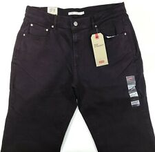 Levis - 505 Straight Mid Rise Jeans Women 8M 29x32 Burgandy NWT Cotton Denim
