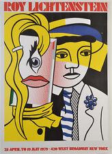 Stepping Out by Roy Lichtenstein 1979 Leo Castelli Exhibition Poster 26.25x36.5