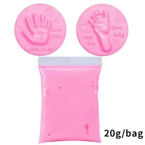 Baby Care Air Drying Soft Clay Baby Handprint Footprint Imprint Kit Parent-chiYK