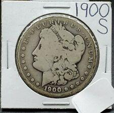 1900 S Morgan Silver Dollar Coin Vg Very Good Circulated High S Mint Mark