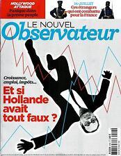 LE NOUVEL OBSERVATEUR N°2592 10 JUILLET 2014 HOLLANDE&ECONOMIE/SOLDATS PR FRANCE
