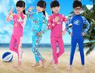 Kids Girls Long Sleeve Rash guard Sun Shirt &Pants Set UV Protect Swimsuit