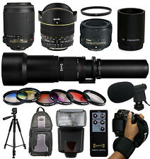 Extreme 4 Lens Accessory Package Bundle for Nikon D5500 D5300 D5200 D3300 D3200