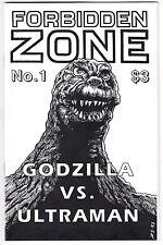 FORBIDDEN ZONE #1 (1993) FANZINE GODZILLA VS ULTRAMAN / NICHOLAS WORTH INTERVIEW