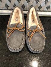 Women's UGG Dark Gray Dakota Slippers- size 6- #5612