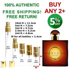 Opium YSL EDT women perfume sample travel size 2~2.5~3~5~10ml