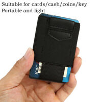 Front Pocket Minimalist EDC Slim Wallet 15 Card Holders for Men Cash Coins Keymz
