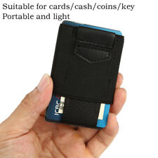 Front Pocket Minimalist EDC Slim Wallet 15 Card Holders for Men Cash Coins Keys.