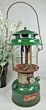 Vintage Coleman Lantern~1972~Green~Model 220F~Double Mantel~Pyrex Glass