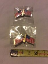 "USA Flag NEW Lot Of 2 Pins 1.75"" & 1"" Inch America Old Glory Button Sealed Badge"
