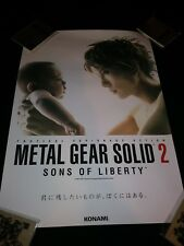 METAL GEAR SOLID 2 SONS OF LIBERTY GACKT POSTER JAPANESE B2 PROMO