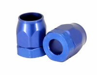 "Vacuum Hose End Fittings Covers Blue 5/32"" I.D.Hose Qty. 2, 1166 Aluminum"