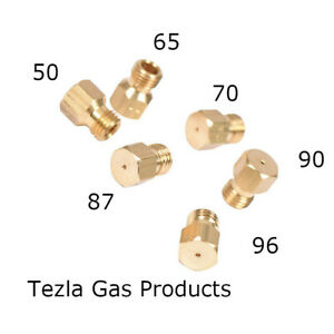 SET OF 6 x UNIVERSAL GAS JETS INJECTORS FOR LPG CONVERSION - THREAD M6 x 0.75