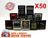 50x ATARI 2600 GAME CARTRIDGE CLEAR PLASTIC PROTECTIVE BOX PROTECTOR SLEEVE CASE