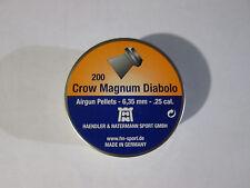 H&N 6.35 / .25 Crow Magnum Ver2 pellets Box of 200