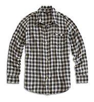 Lucky Brand Women's XL NWT$79 - Black/White Plaid Rayon-Flannel Boyfriend Shirt
