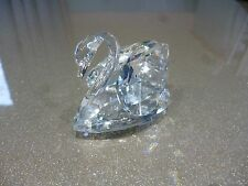 Swarovski crystal Large Swan short tail  - mint retired collectible