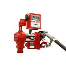 Fill Rite FR1211G 12 Volt DC Pump with Hose Manual Nozzle and Meter