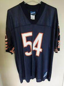 Vtg Adidas Brian Urlacher # 54 NFL Chicago Bears Replica Football Jersey Men L
