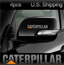 4 CATERPILLAR Sticker Decals Wing Mirror Wheels Door Handle Truck CAT Silver