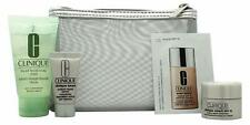 Clinique Hello Repair Set: Liquid Facial Soap Moisturizer Serum Pouch