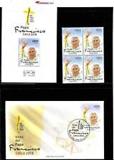 CHILE  2018 POPE FRANCISCO VISIT PACK BLOC OF 4+FDC+OFFICIAL PANFLET