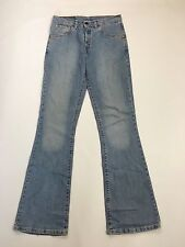 Para Mujeres Jeans de Levi 525 'Bootcut' - W30 L34-lavado Descolorido Azul Marino-Excelente Estado