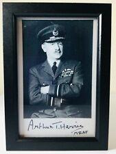 RAF LEADER WW2 ARTHUR BOMBER HARRIS PHOTOGRAPH PRINT & SIGNATURE
